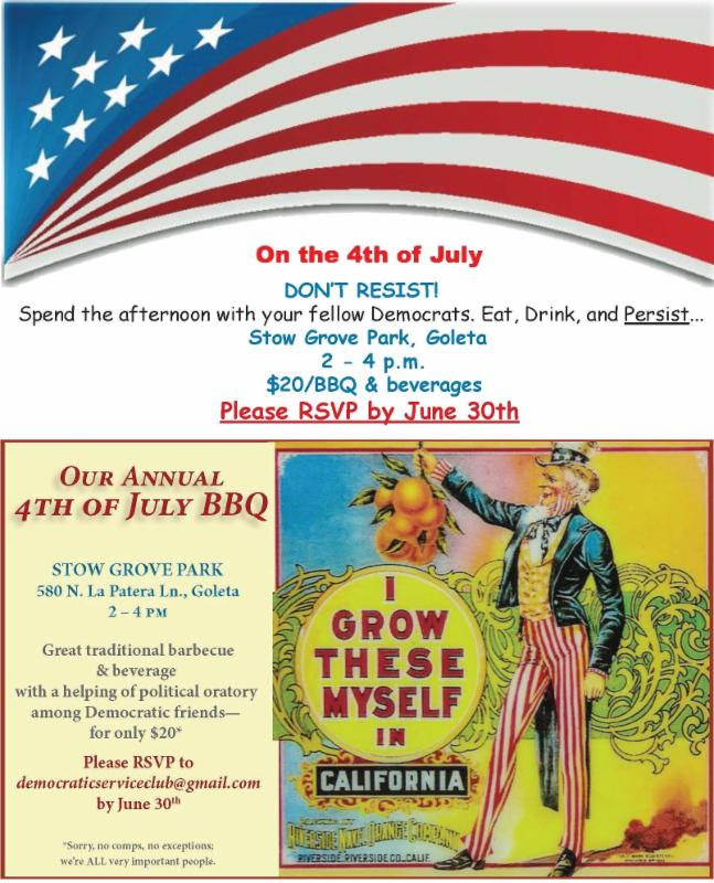 Invitation to 4th of July Democratic picnic